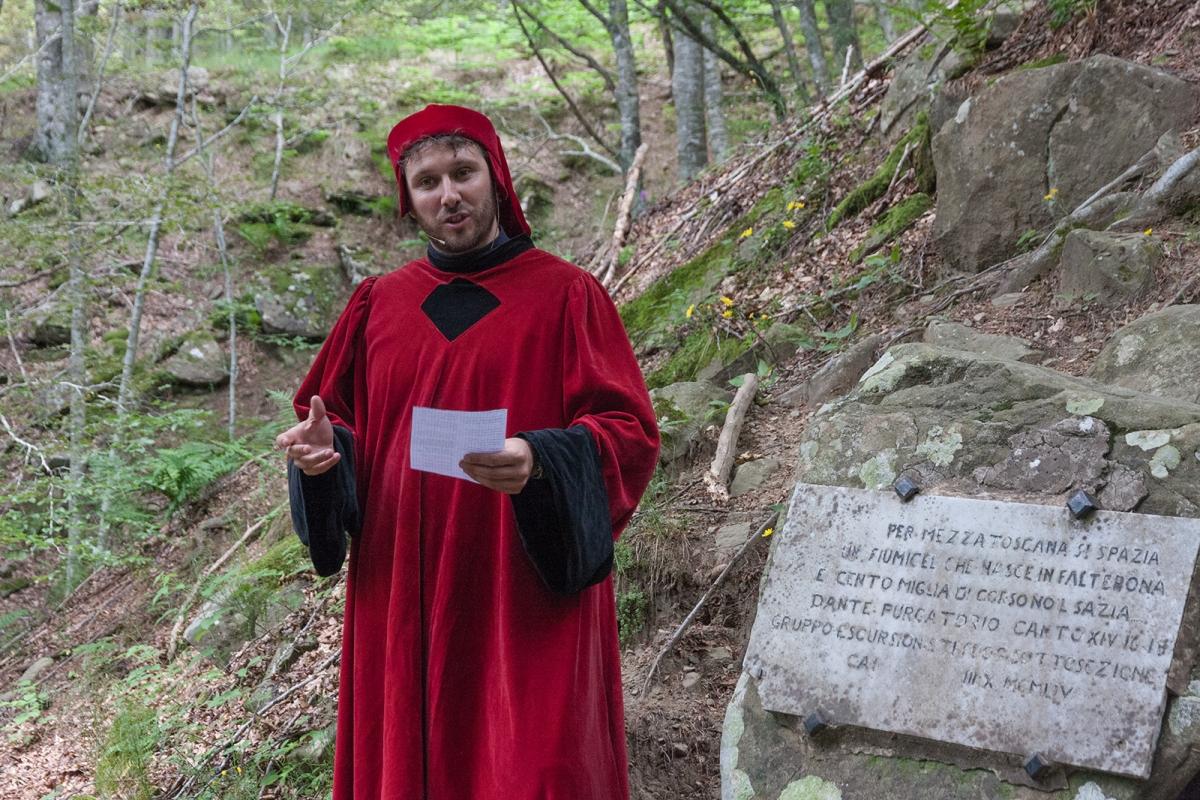 Cammino di Dante - Capo d'Arno La declamazione