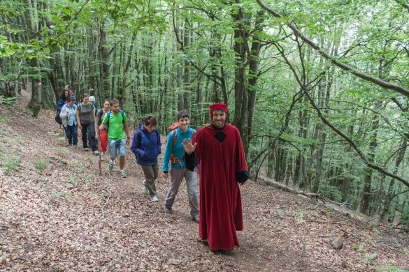 Cammino di Dante - Il cammino con Dante
