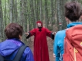 Cammino di Dante - Dante che parla nel bosco
