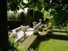 Giardino la Foce - la terrazza dal giardino delle rose